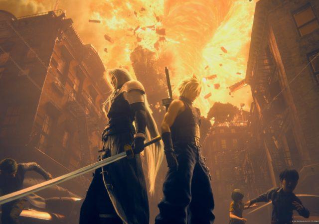 Final Fantasy VII Remake - Cloud et Sephiroth
