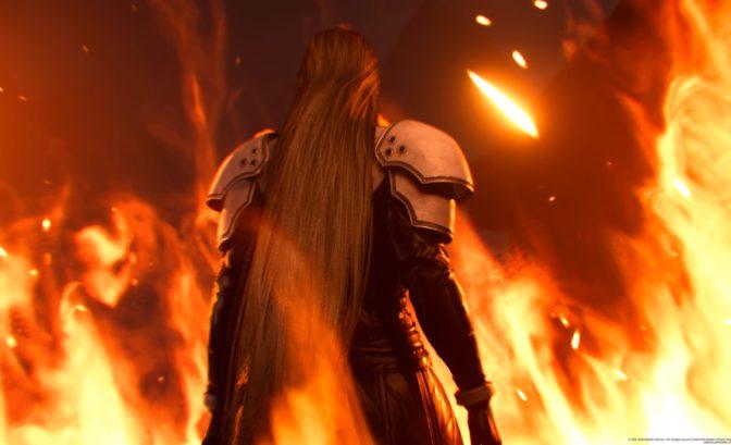 Final Fantasy VII Remake - sephiroth de dos