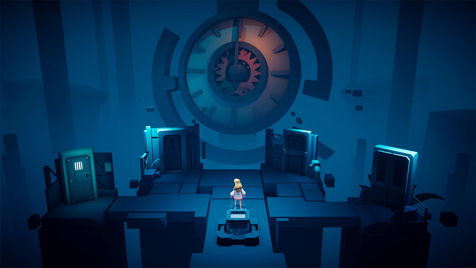 Timelie - a petite fille face à une drôle d'horloge