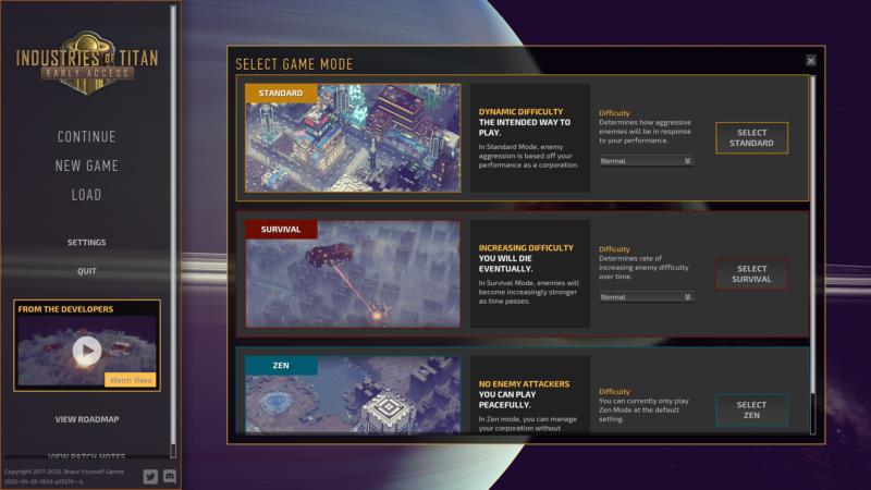 Industries of Titan choix