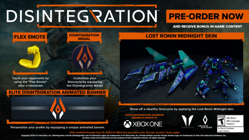 Disintegration - preorder XBOX ONE