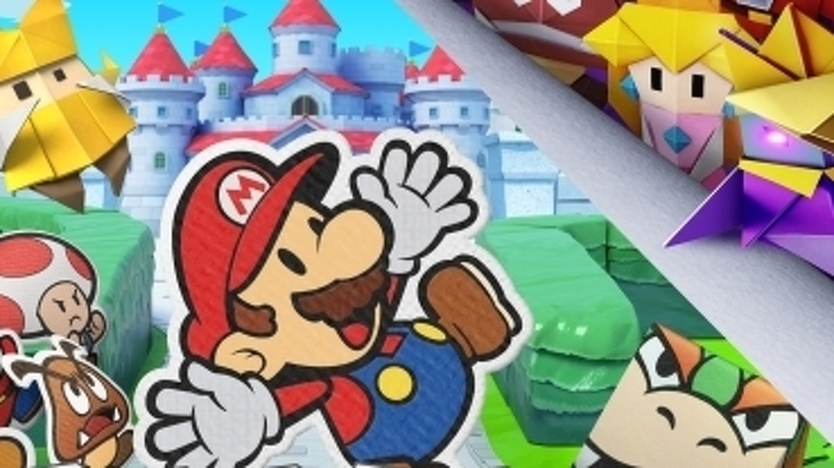 Paper Mario: The Origami King - Bannière