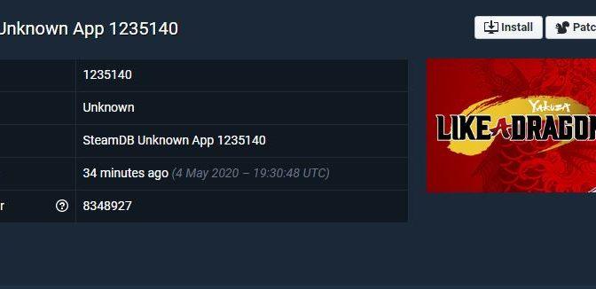 Yakuza 7 sur Steam