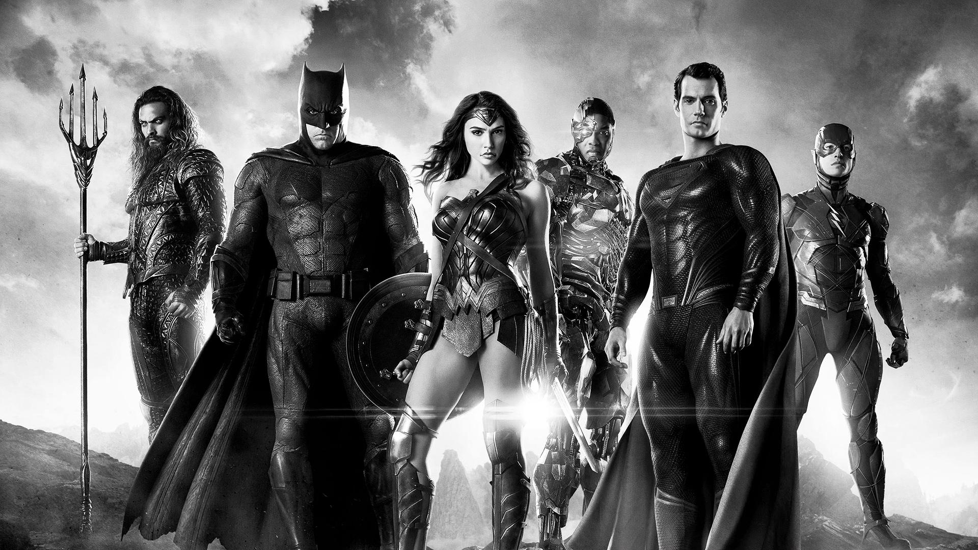 Justice League noir et blanc