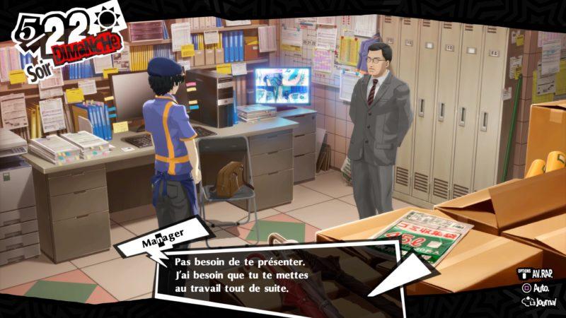 Persona 5 Royal - Journée de boulot