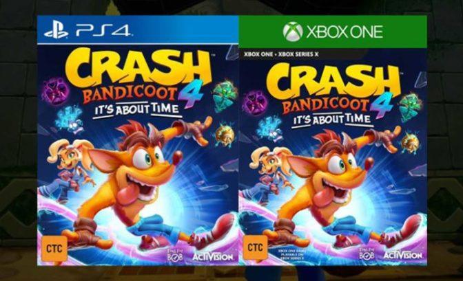 Fuite du jeu vidéo Crash Bandicoot 4: It's About Time