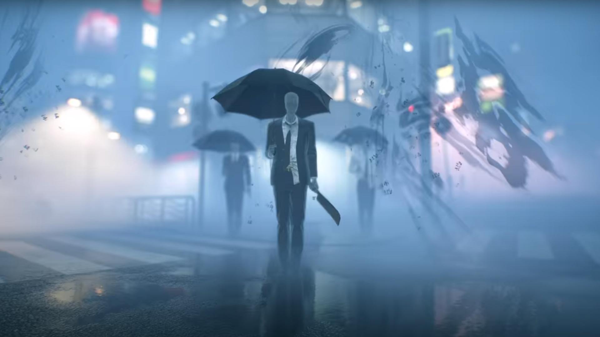 ghostwire salary men parapluie