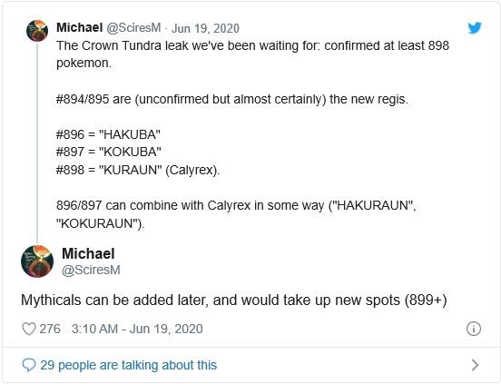 Pokémon Épée et Bouclier - Roi et montures Tweet