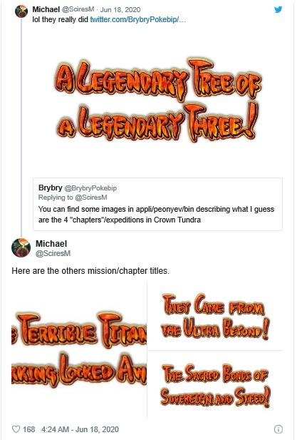 Pokémon Épée et Bouclier - Titres Tweet