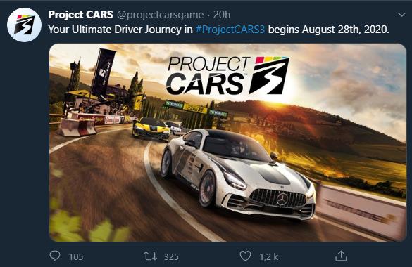 Project Cars 3 date de sortie