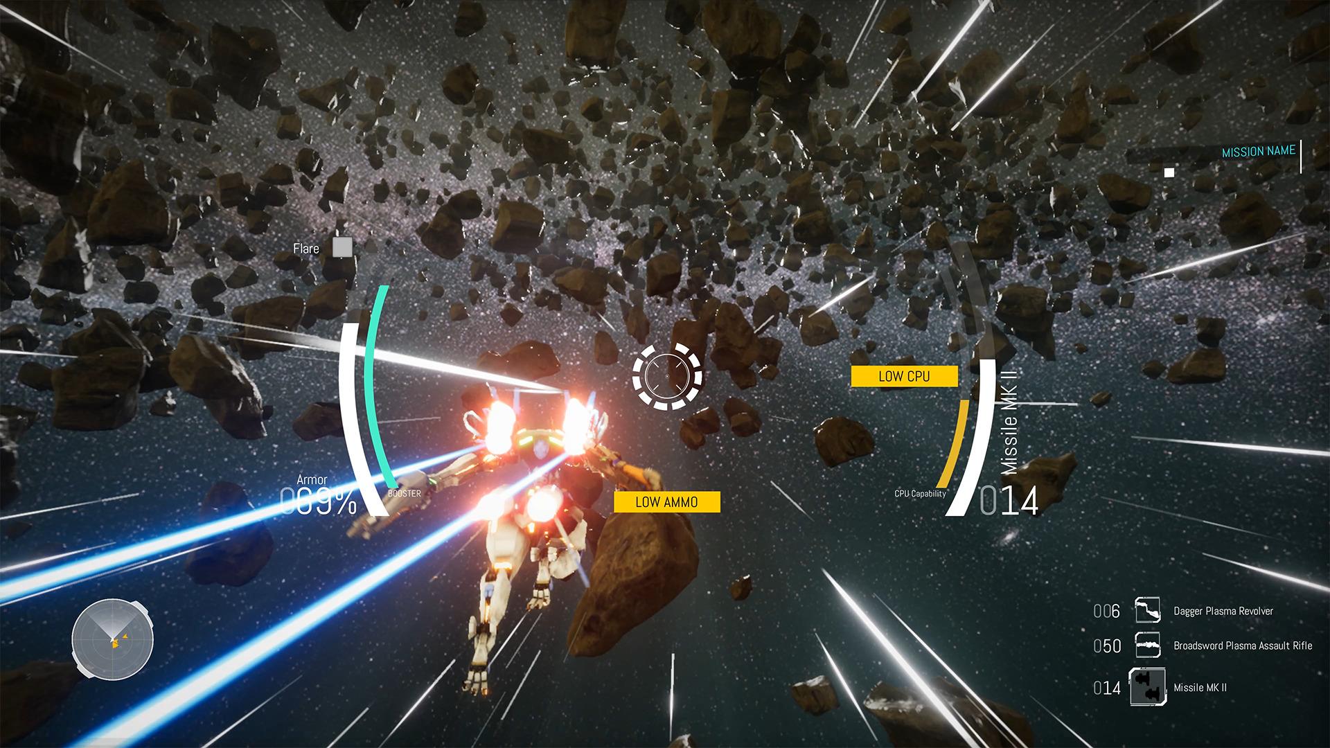 Nimbus Infinity - vol dans un champ d'astéroïde