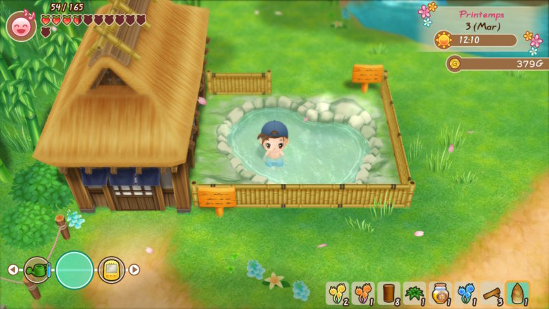 Story of Seasons: Friends of Mineral Town - Au bain