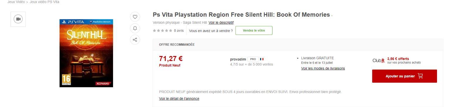 Silent Hill PS Vita