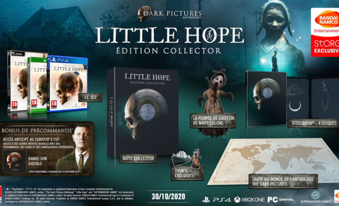 édition collector du jeu The Dark Pictures: Little Hope