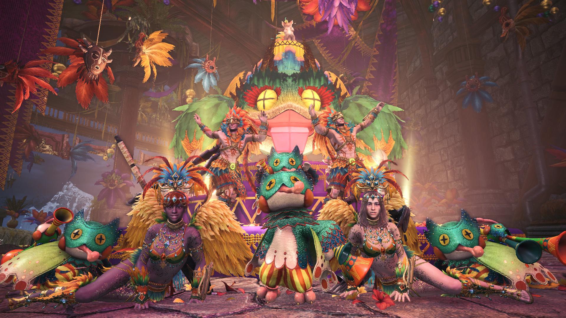 Monster Hunter World Iceborne festival carnaval
