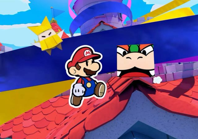 Paper Mario: The Origami King Mario et Bowser