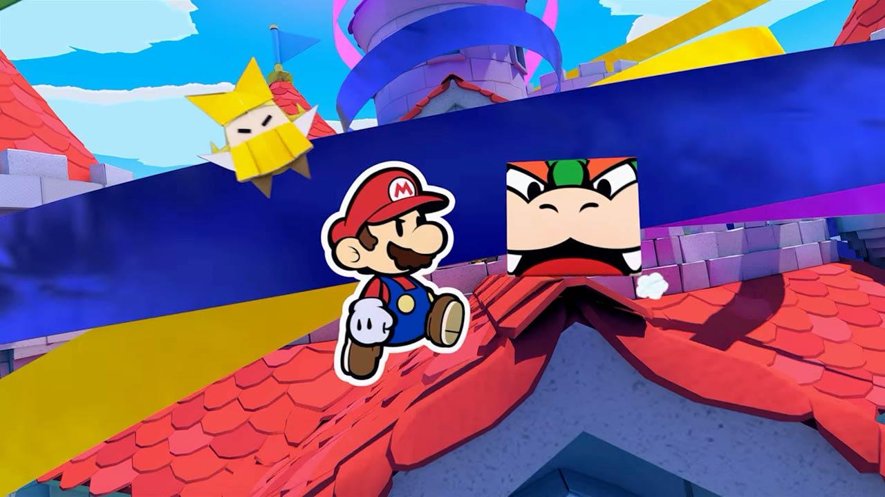 Paper Mario: The Origami King Mario et Bowser