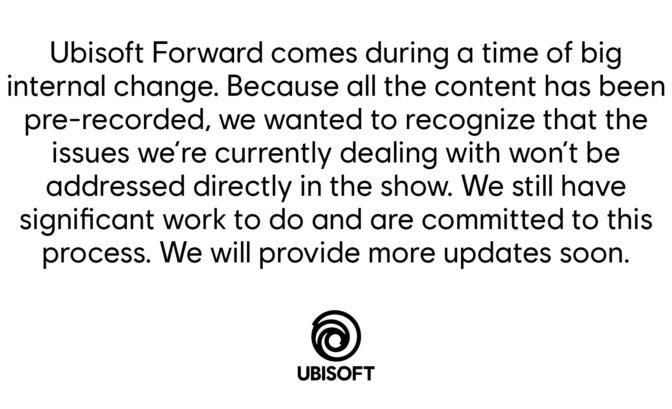 Ubisoft Forward CP harcelement