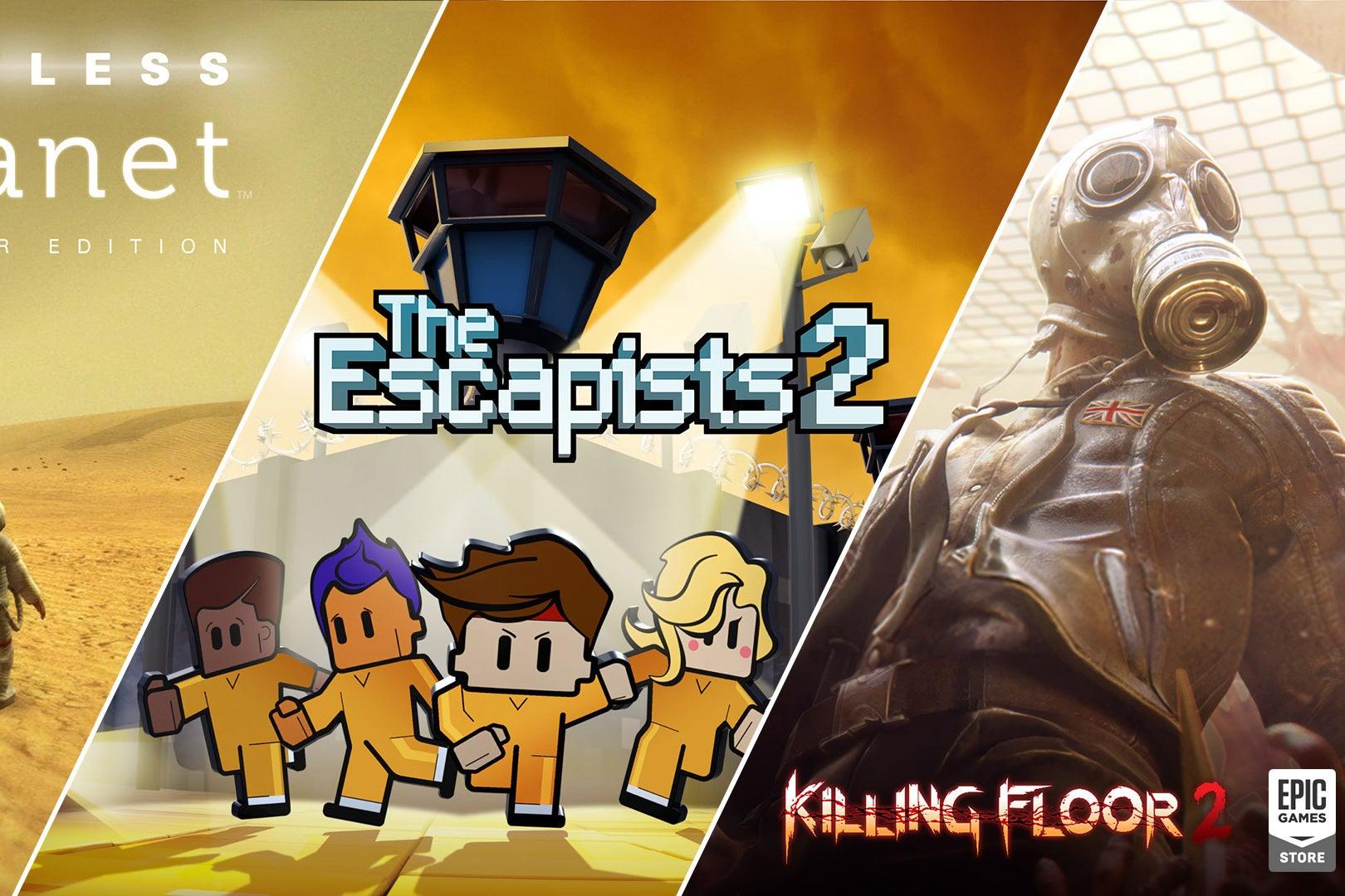 Epic Games Store - The Escapists 2, Killing Floor 2 et Lifeless Planet
