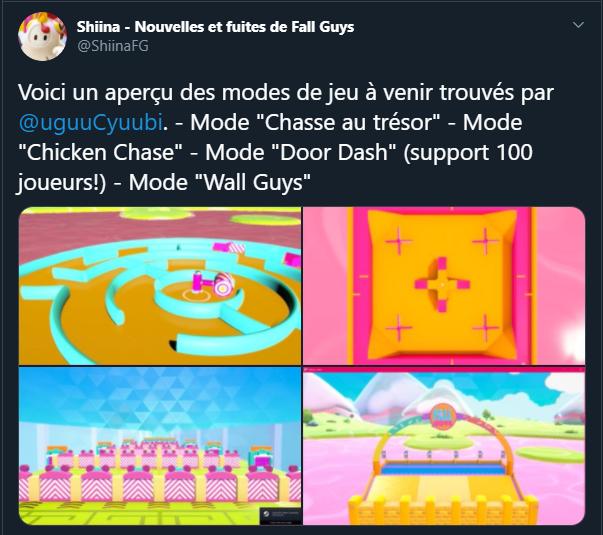 Fall Guys Saison 2 Moyen-Âge Tweet