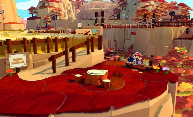 Paper Mario: The Origami King - des panoramas sublimes