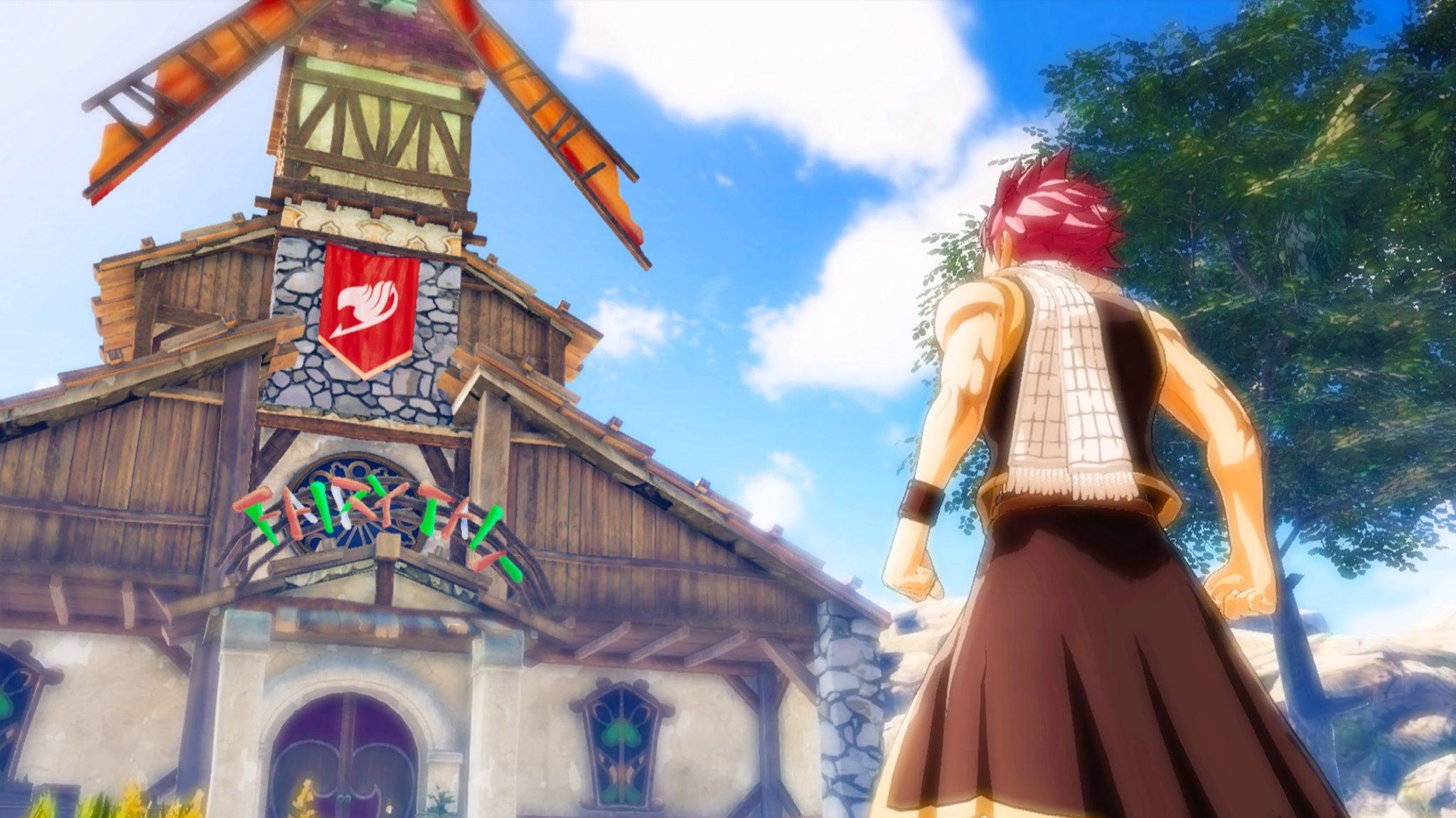 Test Fairy Tail - Natsu face à la guilde