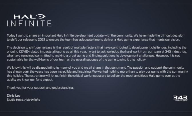 Halo Infinite report