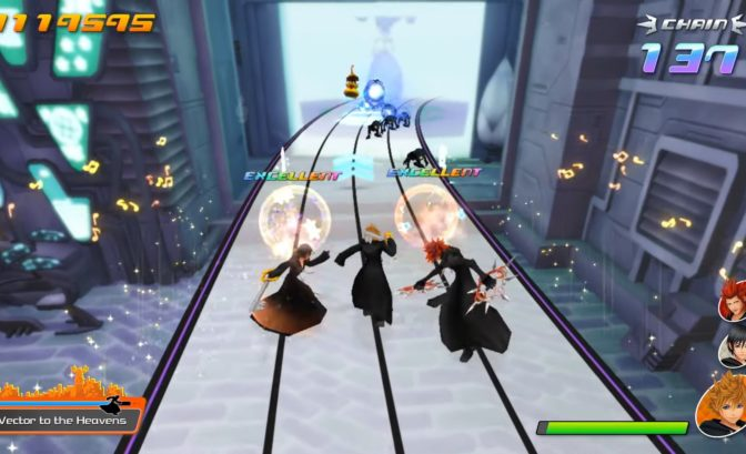 kingdom hearts melody of memory gameplay avec xion roxas et axel