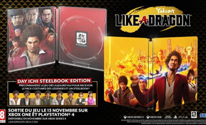 Yakuza: Like a Dragon steelbook