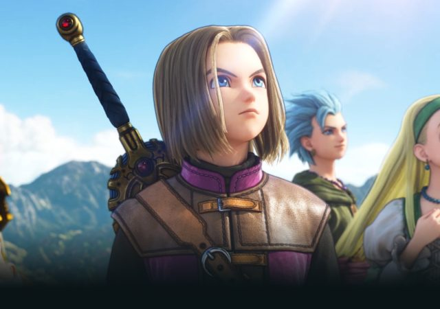 Dragon Quest XI S Le héros et son groupe