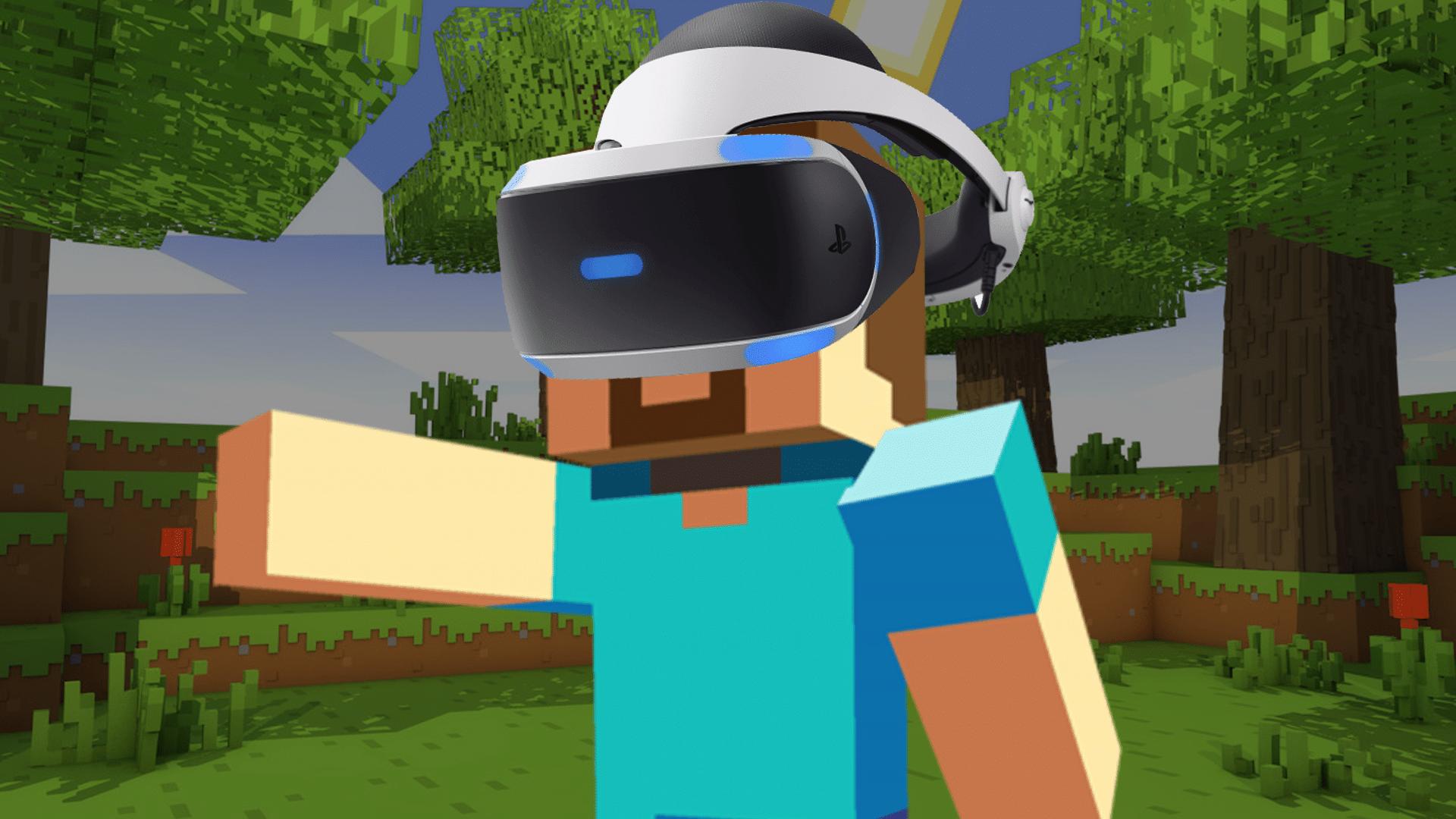 Arrivé de la réalité virtuelle sur Minecraft PS4