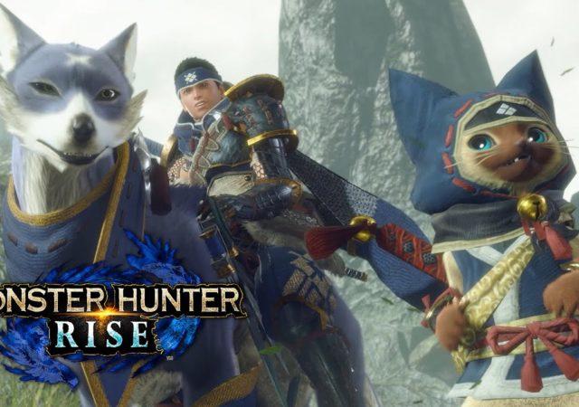 Monster Hunter Rise - des chiens et des chats
