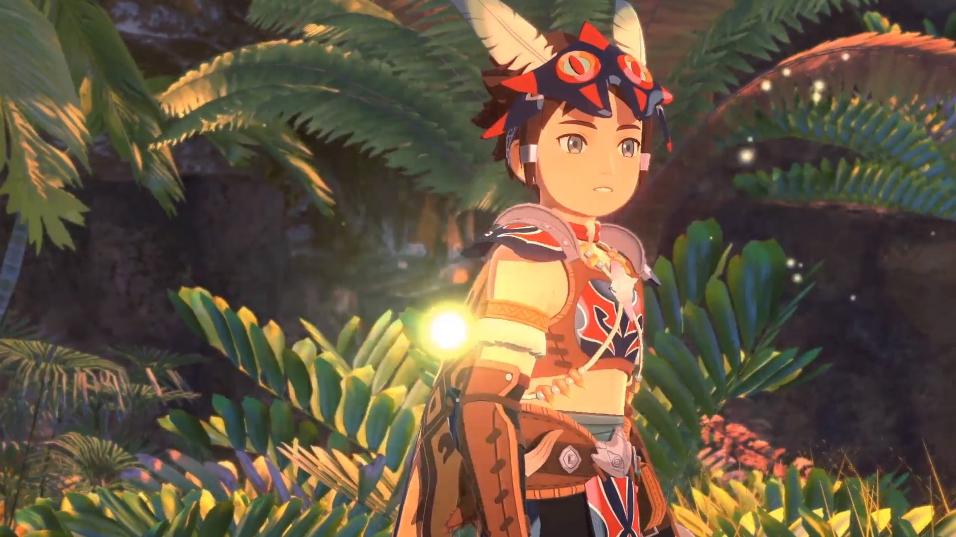 Monster Hunter Stories 2: Wings of Ruin personnage dans la jungle