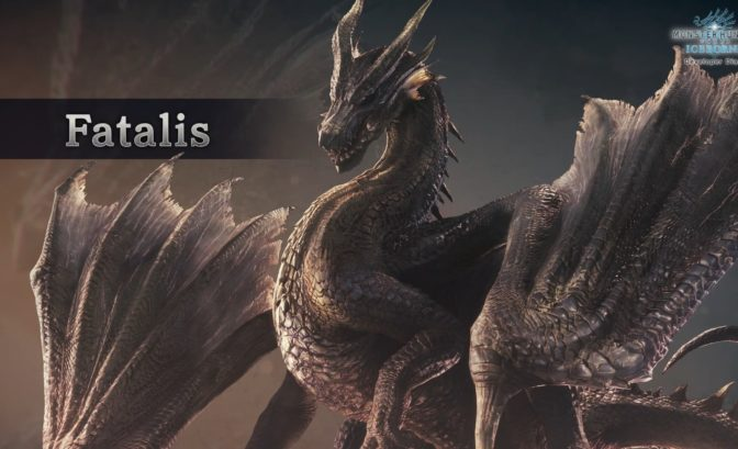 Monster Hunter World Iceborne Image officielle du Fatalis