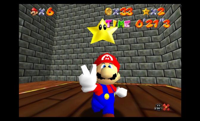 Super Mario 3D All-Stars - Mario obtient une étoile de puissance
