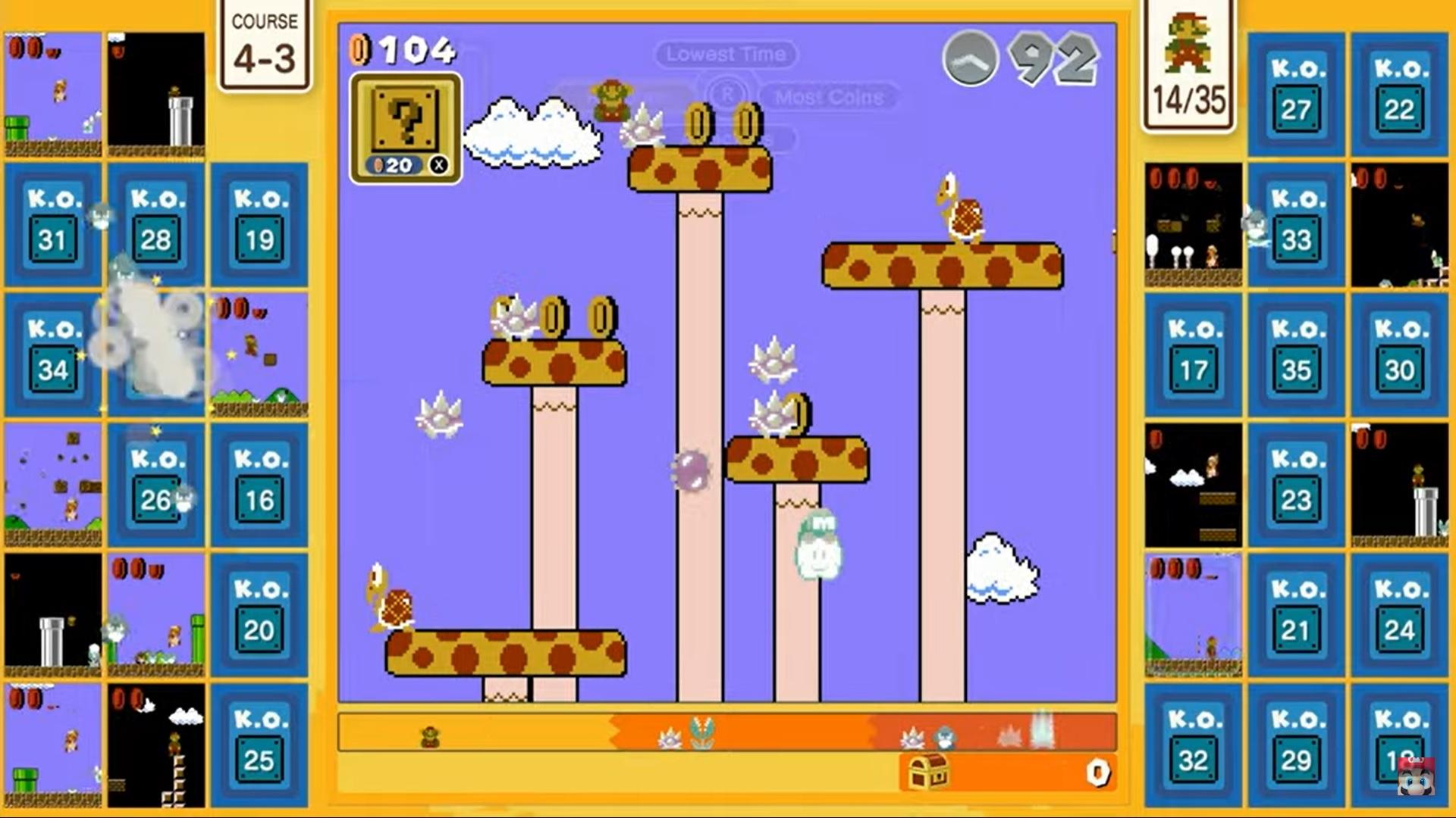Super Mario Bros. 35 - Ecran