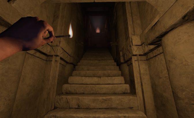 Amnesia: Rebirth escalier sans fin allumettes