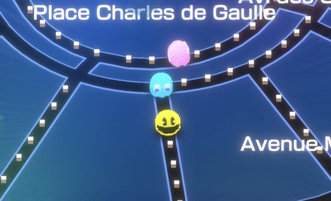 Pac-Man Geo gameplay place charles de gaulle paris