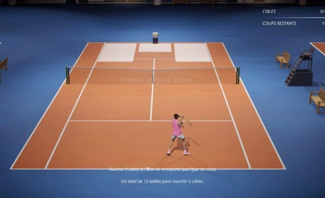 Test tennis world tour 2 - entraînement Nadal