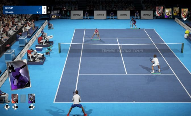test tennis world tour 2 - match en double