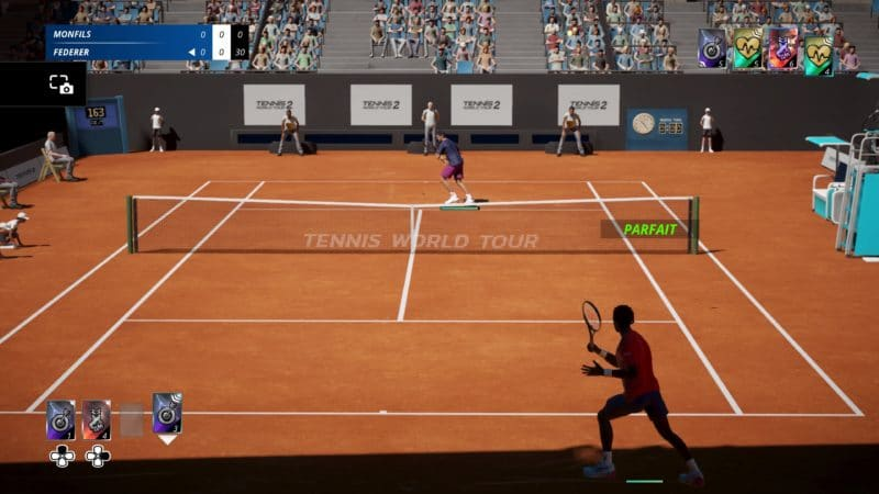 test tennis world tour 2 - Monfils vs Federer