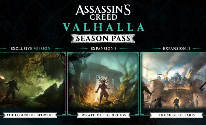 Roadmap du Season Pass d'Assassin's Creed Valhalla