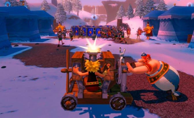Asterix & Obelix XXL Romastered Gameplay Catapulte