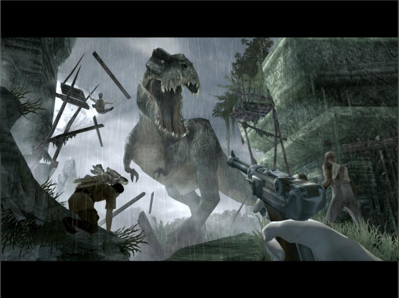 King Kong affrontement contre le dinosaure