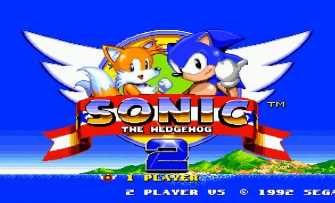 Sonic The Hedgehog 2 - écran titre en duo