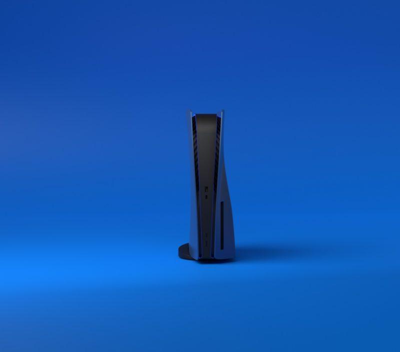 PS5 design bleu