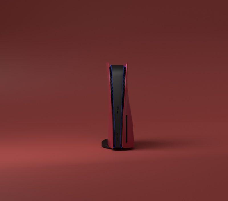 PS5 design rouge cerise