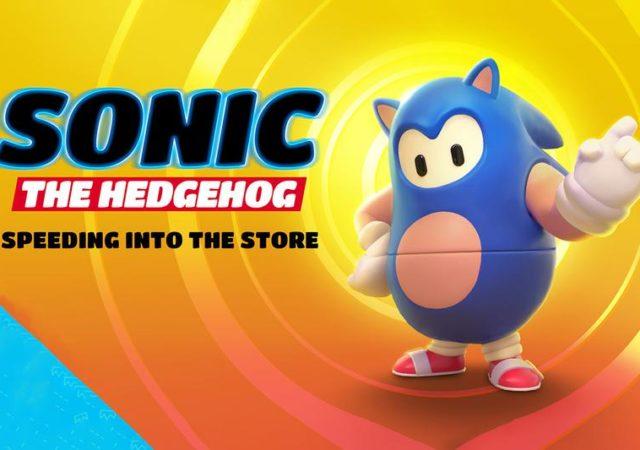Sonic le hérisson en costume sur fall guys