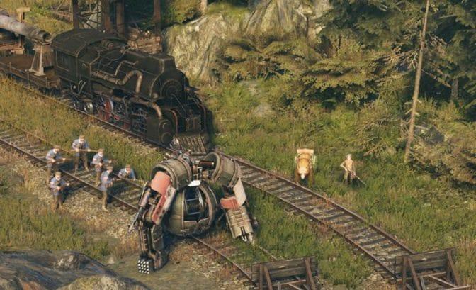 Iron Harvest - escorte du train