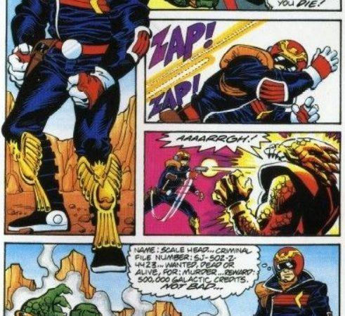 F-Zero - Captain Falcon dans la notice du jeu Snes